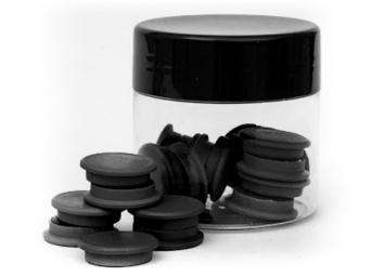 TRES Magnes 20 mm standard czarny 20szt