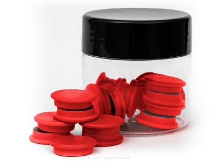TRES Magnes 20 mm standard czerwony 20szt