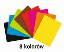 PAPIER KOLOROWY A4 / 8 SAMOPRZYLEPNY SDM