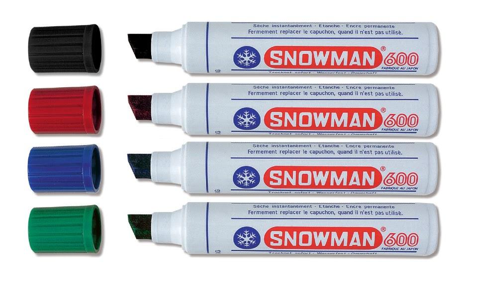 SNOWMAN MARKER JUMBO CZARNY 600