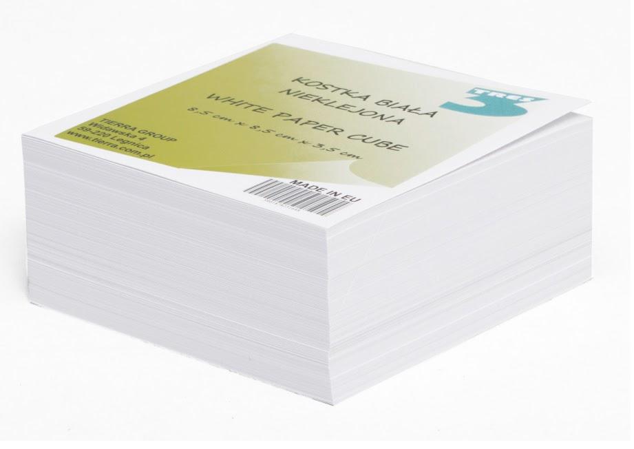 Kostka TRES biała nieklejona  85mm x 85mm