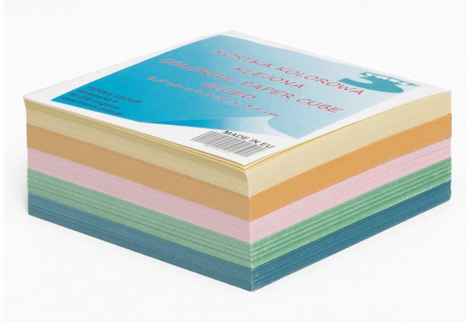 Kostka TRES kolorowa  nieklejona  85x 85x35mm
