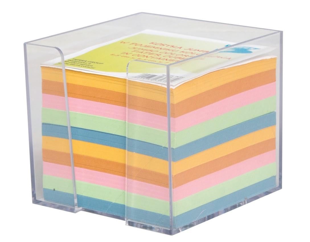 TRES Kostka JUMBO w pojemniku kolorowa 85x85x70