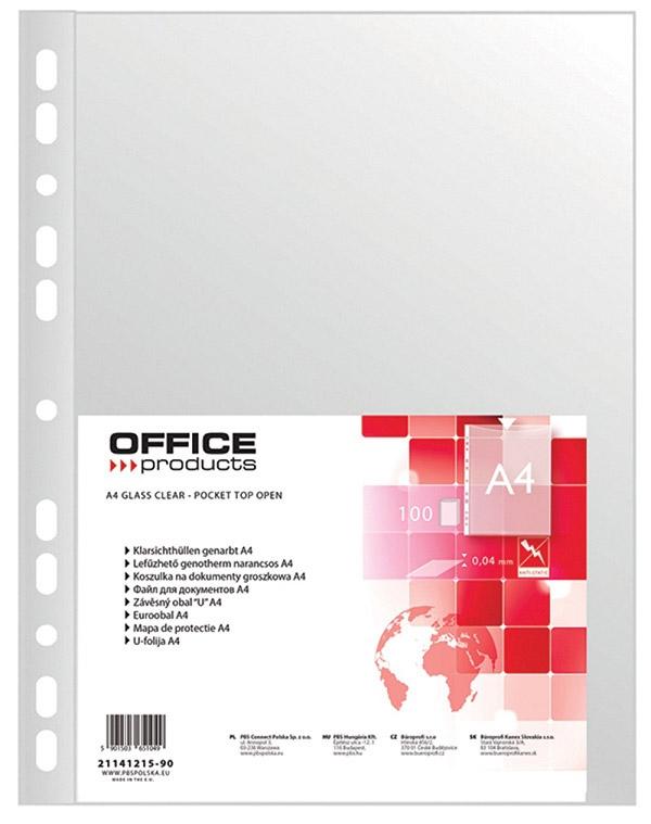 KOSZULKA GROSZKOWA OFFICE PRODUCTS A4 40 MIC. 100