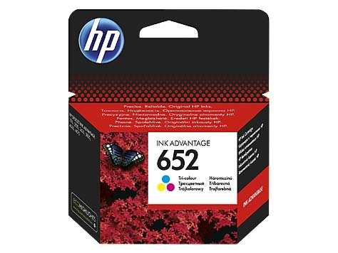 HP Tusz 3775  F6V24AE Nr 652 Color ORYGINAŁ