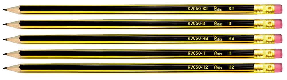 Ołówek z gumką Tetis B2