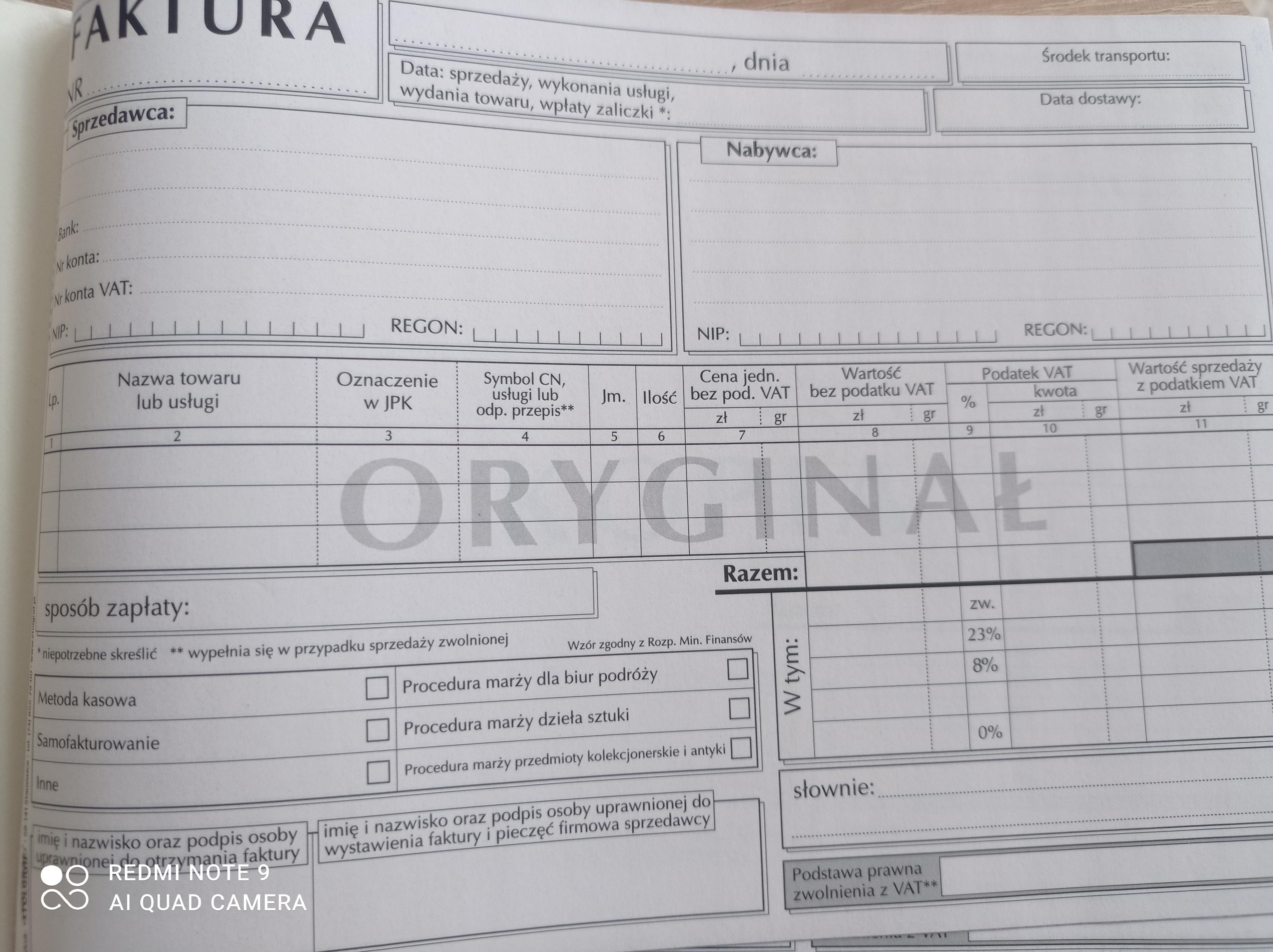 FAKTURA STOLGRAF A5 F18 1+1