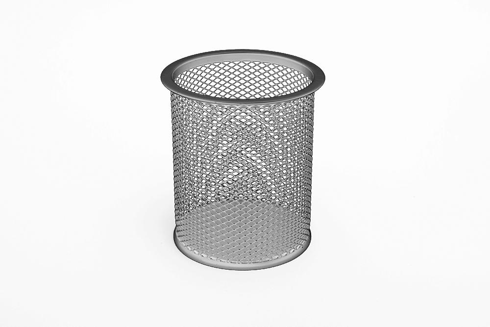TRES Kubek okrągły duży 9x10 srebrny